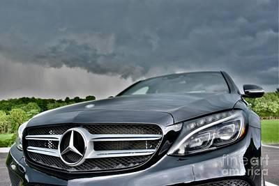 Editoria Photograph - Black C-class Mercedes by Jeramey Lende