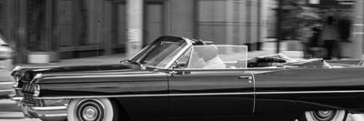 Photograph - Black Cadillac Convertible by SR Green