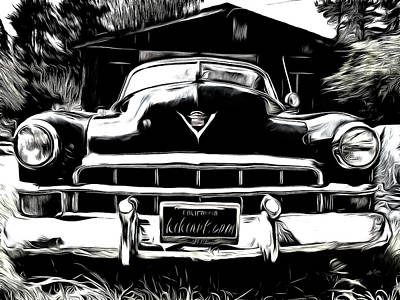 Photograph - Black Cadillac by Kiki Art