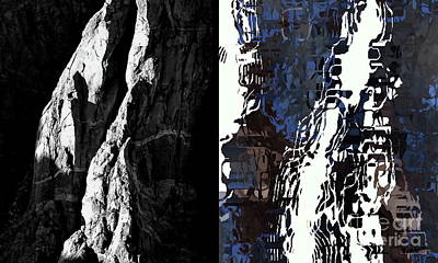 Digital Art - Black Canyon Before And After by Tim Richards
