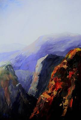 Painting - Black Canyon by Sally Bullers