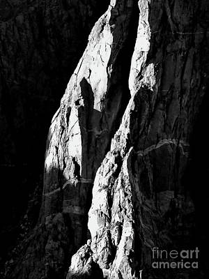 Photograph - Black Canyon Slabs Bw by Tim Richards