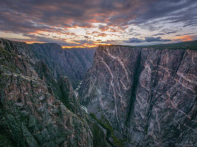Photograph - Black Canyon Sunset by Aaron Spong