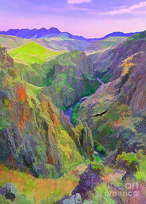 Digital Art - Black Canyon by Walter Colvin