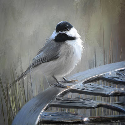 Painting - Black-capped Chickadee - Birds Of Arkansas by Lourry Legarde