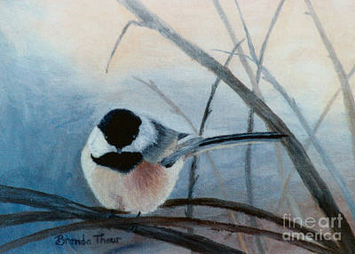 Painting - Black Capped Chickadee by Brenda Thour