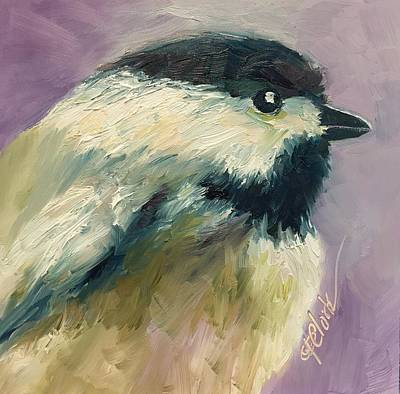 Painting - Black-capped Chickadee by Donna Pierce-Clark