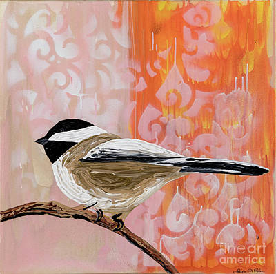 Painting - Black Capped Chickadee by Sheila McPhee