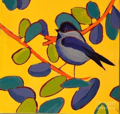 Painting - Black Capped Greenough Bird by Debra Bretton Robinson
