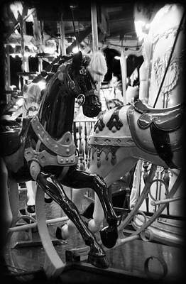 Photograph - Black Carousel Horse by Tammy Wetzel