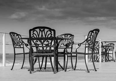 Photograph - Black Cast Iron Seats by John Williams