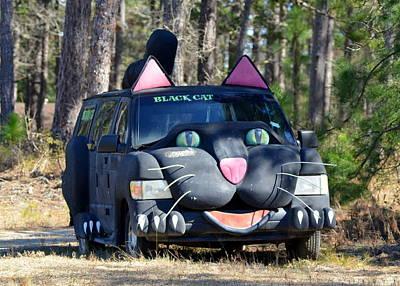 Photograph - Black Cat Art Car by Carla Parris