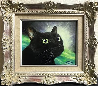 Cats Painting - Black Cat Inspiration by Hiroyuki Suzuki