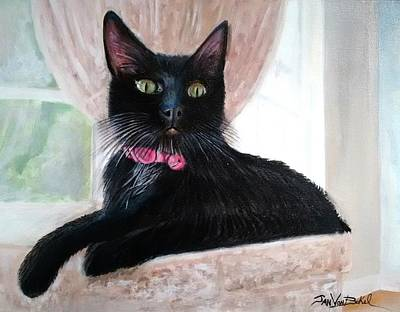 Painting - Black Cat by Jan VonBokel