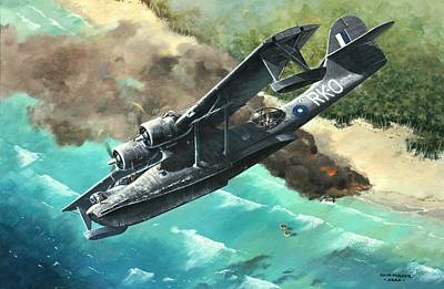 Painting - 'black Cat To The Rescue' by Colin Parker