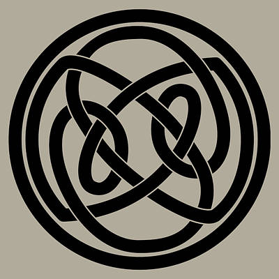 Digital Art - Black Celtic Knot by Jane McIlroy
