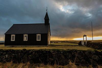 Photograph - Black Church Golden Hour 2 by Scott Cunningham