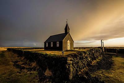 Photograph - Black Church Golden Hour by Scott Cunningham