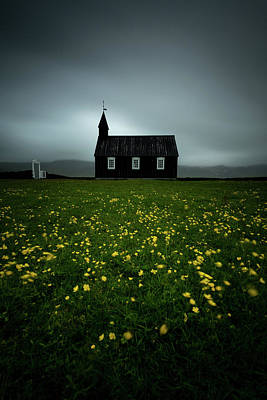 Photograph - Black Church Of Budir by Josh Eral