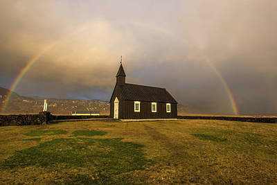 Photograph - Black Church Rainbow by Scott Cunningham
