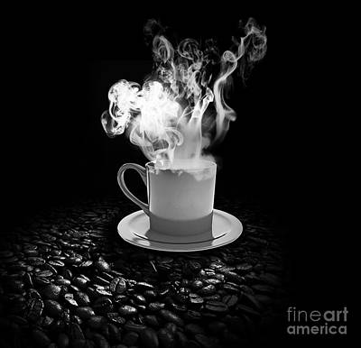 Food And Beverage Royalty-Free and Rights-Managed Images - Black Coffee by Stefano Senise
