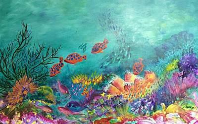 Painting - Black Coral by Lyn Olsen