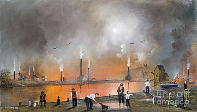 Painting - Black Country Landscape by Ken Wood