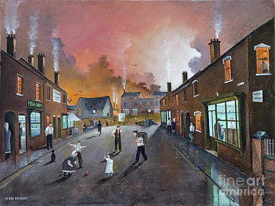 Painting - Black Country Village High Street by Ken Wood