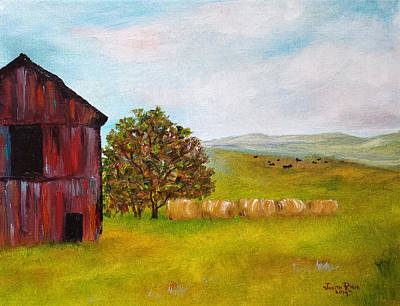Painting - Black Cows by Judith Rhue