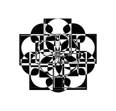 Digital Art - Black Cross by Cathy Harper