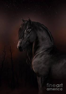 Digital Art - Black Dawn by Elle Arden Walby