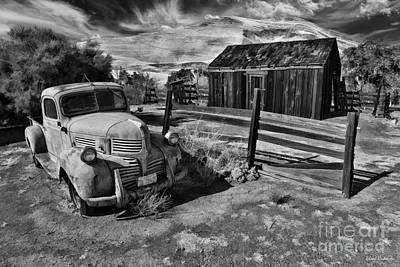 Photograph - Black Diamond Mines Dodge Truck by Blake Richards
