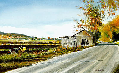 Dirt Roads Painting - Black Dirt Morning by Tom Hedderich