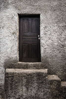 Old Door Photograph - Black Door by Marco Oliveira