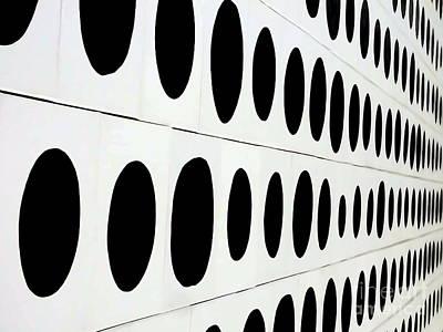 Digital Art - Black Dots by Ed Weidman