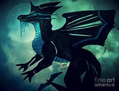 Painting - Black Dragon by Maria Urso