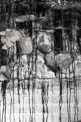 Drip Painting - Black Drips by Svetlana Sewell