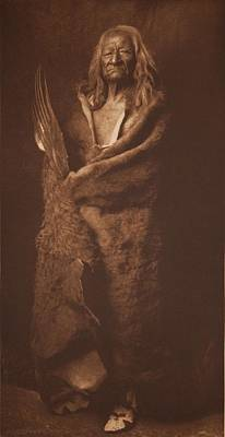 Black Eagle - Assinboin Ca 1908 , Native American By Edward Sheriff Curtis, 1868 - 1952 Art Print
