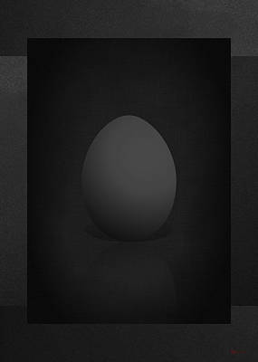 Digital Art - Black Egg On Black Canvas  by Serge Averbukh