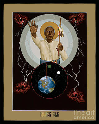 Painting - Black Elk - Rlble by Br Robert Lentz OFM