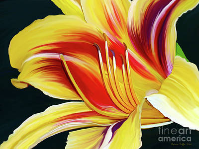 Painting - Black-eyed Susan Daylily I by Patricia Griffin Brett