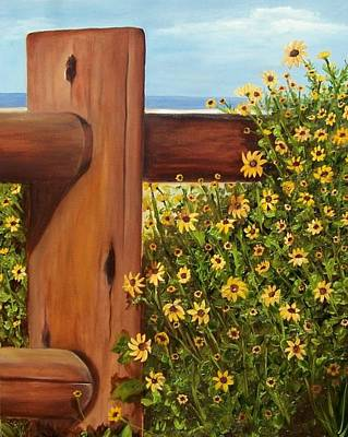 Painting - Black-eyed Susans Beached by Susan Dehlinger