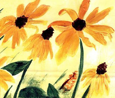 Painting - Black-eyed Susans by Christine Quimby