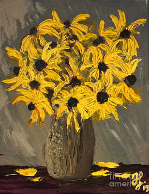 Painting - Black-eyed Susans by Francois Lamothe