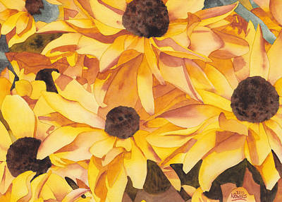 Painting - Black Eyed Susans by Ken Powers