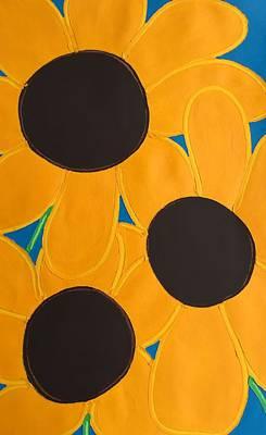 Painting - Black Eyed Susans by Matthew Brzostoski