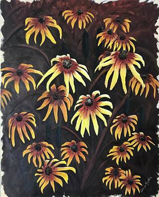 Painting - Black Eyed Susie by Bonnie Heather