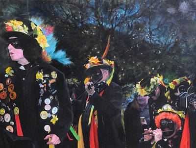 Painting - Black Face Mummers by Harry Robertson