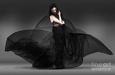 Gray Hair Photograph - Black Fashion The Dark Movement In Motion by Jorgo Photography - Wall Art Gallery