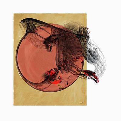 Digital Art - Black Feathers II by AGeekonaBike Fine